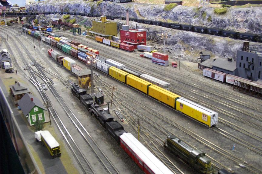 how to keep a large model train layout clean